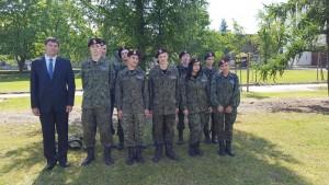 Delegacja z ZSP Kościelec na przysiędze wojskowej