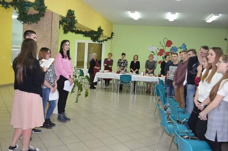 Wigilia w internacie ZSP w Kościelcu