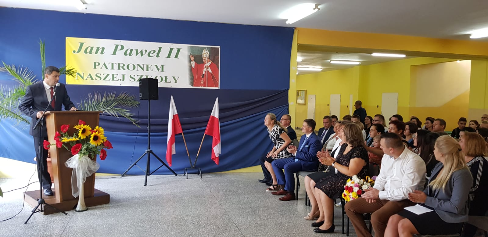 Uroczyste rozpoczęcie roku szkolnego 2018/2019 w Zespole Szkół Ponadgimnazjalnych im.Jana Pawła II w Kościelcu