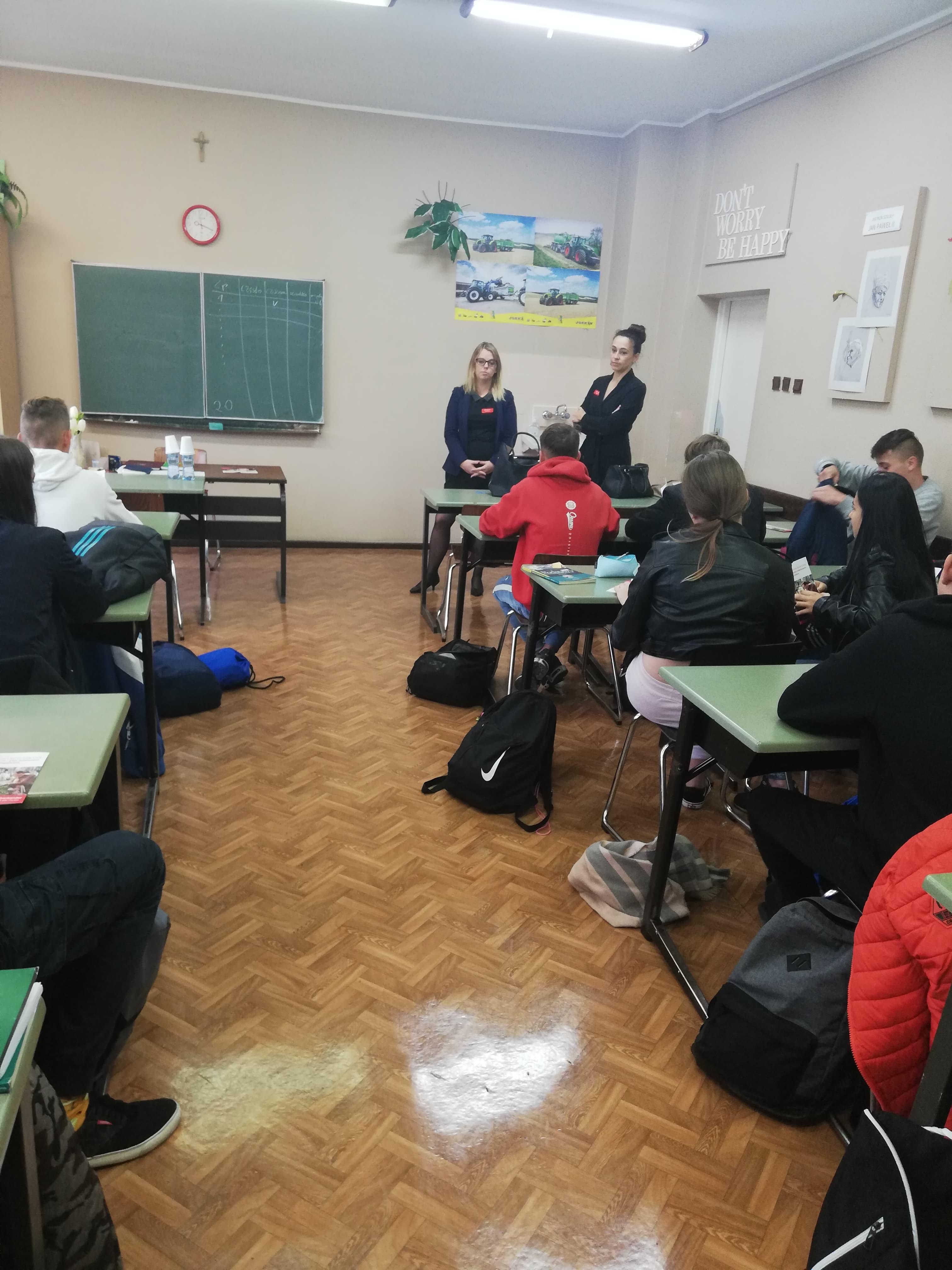 Praktyczna lekcja przedsiębiorczości  w Zespole Szkół w Kościelcu