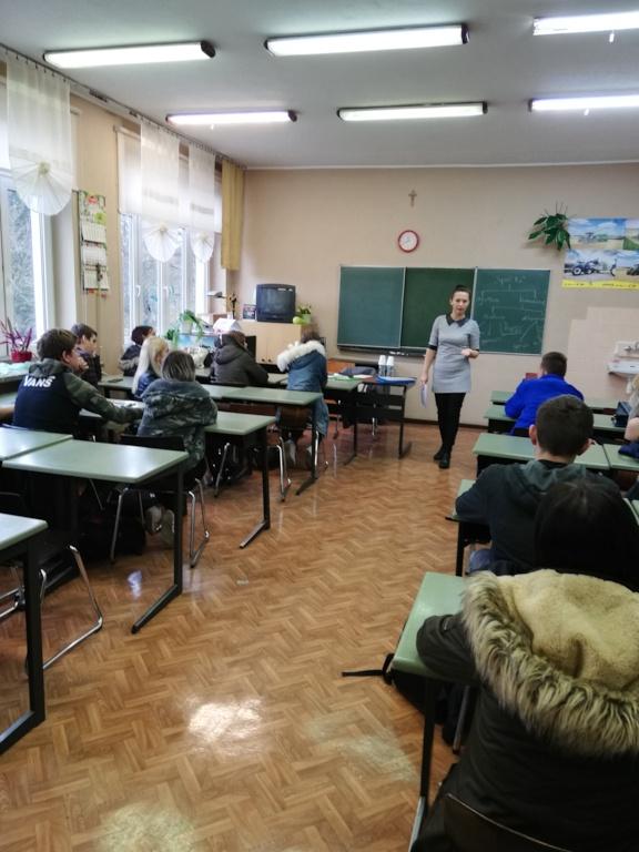 Doradca Zawodowy na spotkaniu z młodzieżą Kościelca