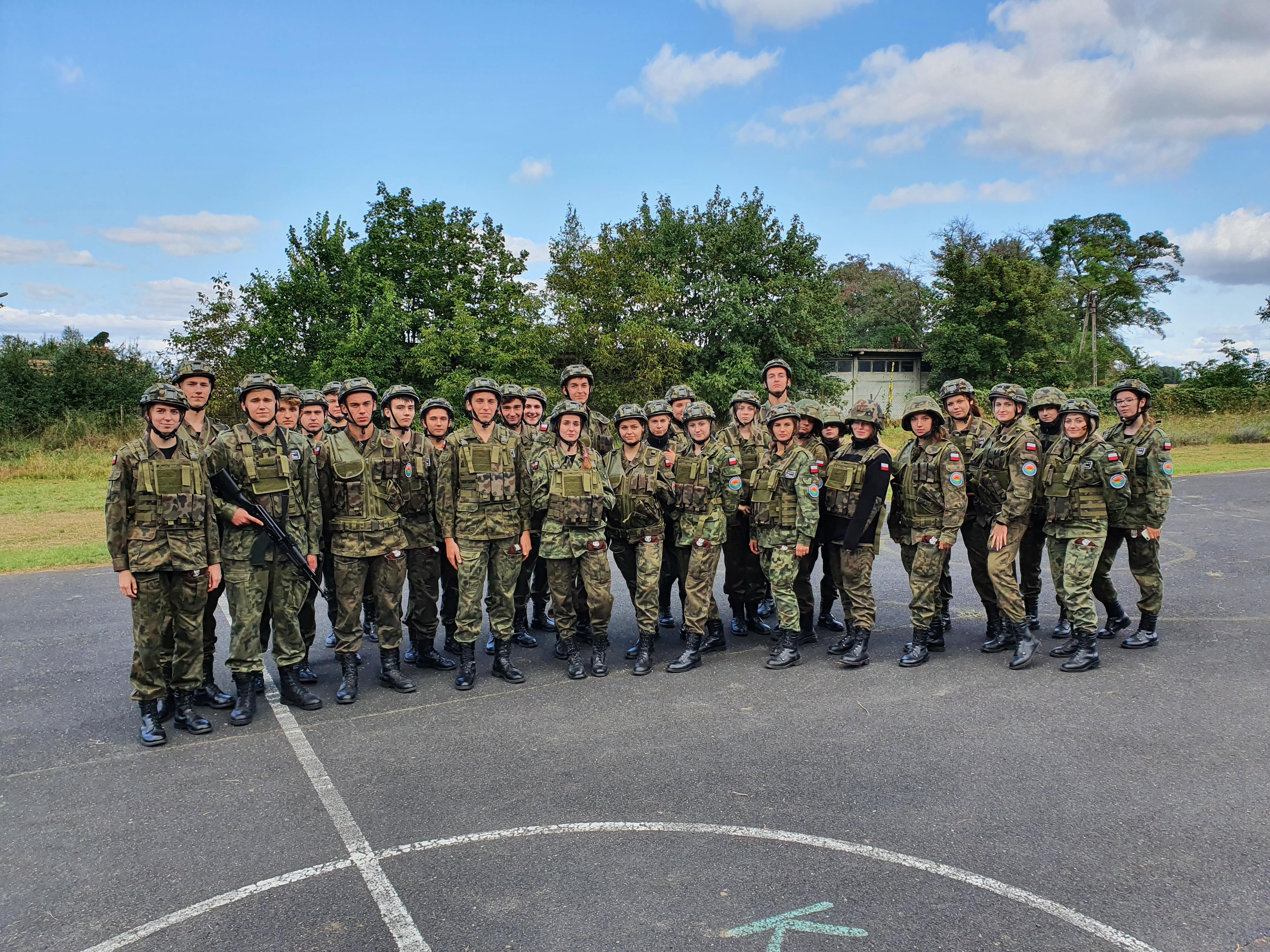 Kadeci z ZS Kościelec realizowali  Wojskowy Dzień Szkoleniowy