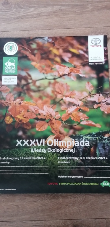 Olimpiada Wiedzy Ekologicznej w ZS Kościelec