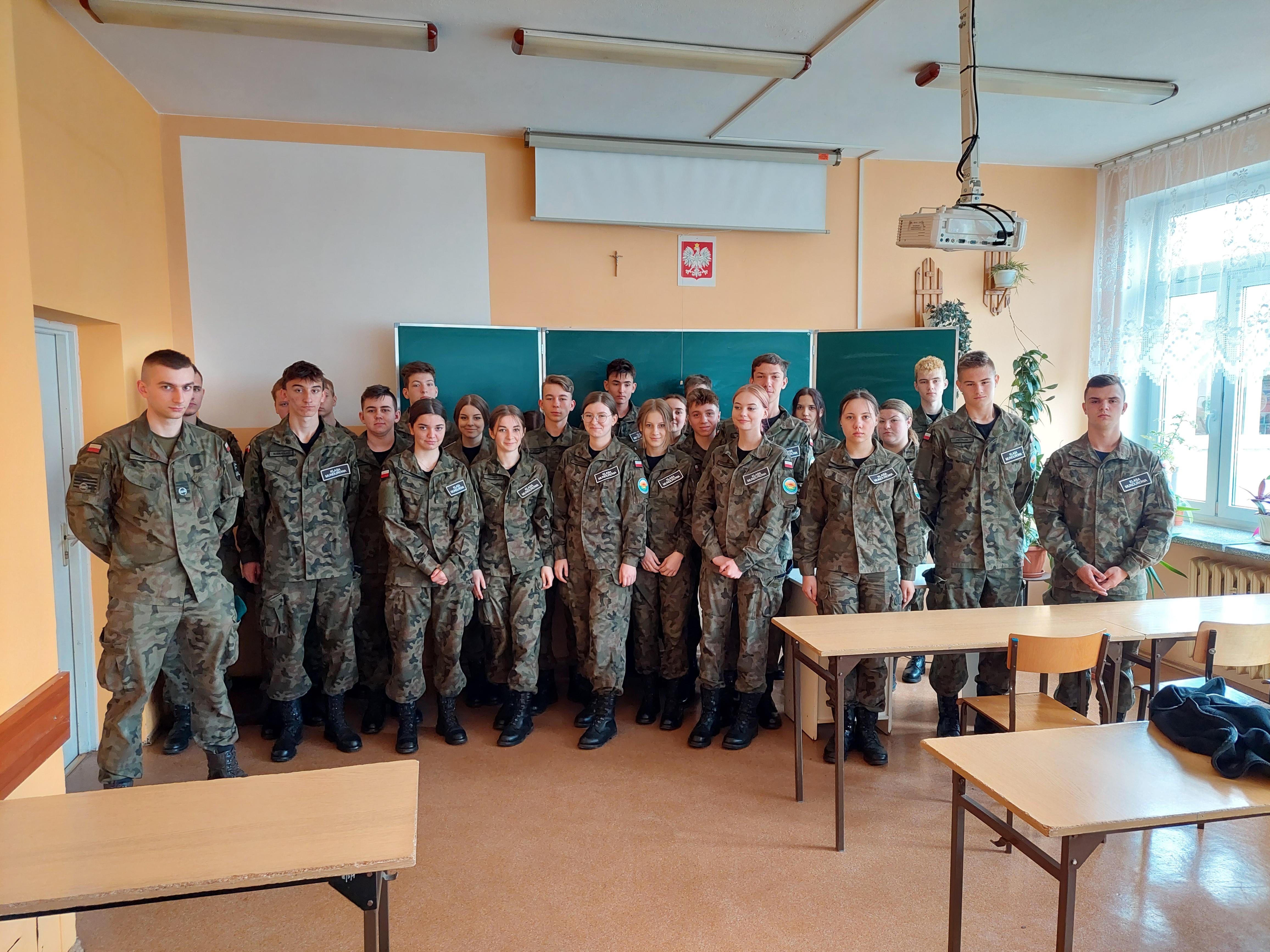 Student Akademii Wojsk Lądowych gościł w ZS Kościelec